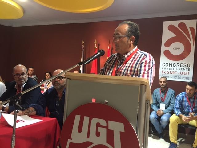 Ramón Sánchez dirigirá a la nueva federación de Servicios, Movilidad y Consumo de UGT Ceuta